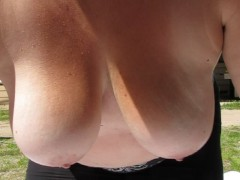 Swinging big tits in slow motion