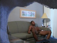 Straight guy caught stroking his big black dick - XP Videos