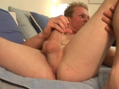 Ron Dickums unloads on his bed - Slippery Palm Productions