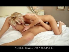 Nubile Films - Grace Hartley grinds her pussy on her lesbian lovers tongue
