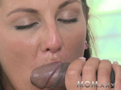 : MOM Mature Wife fucks Big Black Cock