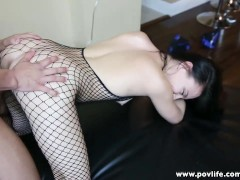 POVLife sexy girlfriend pole dances and fucks bf