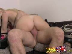 : FakeAgentUK Stunning portuguese chick gets eyes glued shut in casting