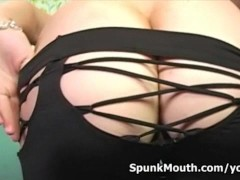 Big titted Superslut Cassidy Blue mouth fucked and gets mega loads of CUM facial.
