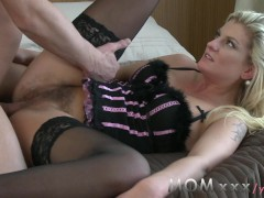 Movie:MOM Blonde Hairy MILF Loves Cock