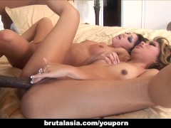 Britney Stevens and Lana Croft suck a BBC.