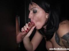 Gloryhole Secrets milf Kitty squirts giving BJs 2