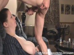 CFNM - curious woman plays with boy toy