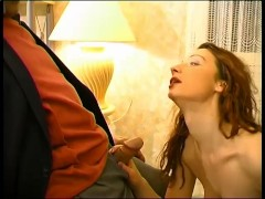 Old guy gets some help fucking this younger chick - Telsev