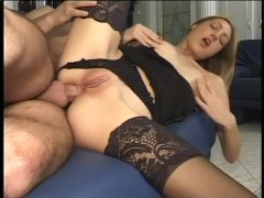 Slut Takes It In The Ass Before Getting A Load Of Cum - Telsev