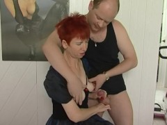 - German granny gets goo...