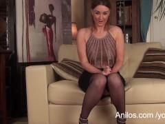 First masturbation video for sexy school teacher