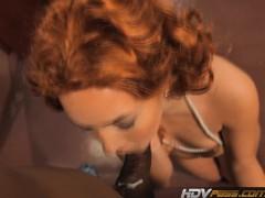 HDVPass Redhead slut Ashli Orion sucks a big black cock before riding it to orgasm