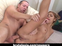 Kat enjoys the biggest cock of her life