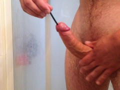 Sounding -12 inches wire into cock