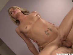 Horny Blonde MILF Loves Big Cocks