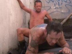 Tattoo his ass with your cum - Factory Video