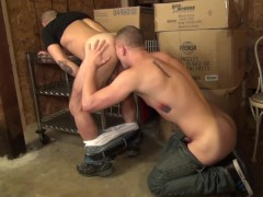 Bent over and butt fucked - Factory Video