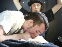 Another straight guy sucked off in the gay van - Factory Video