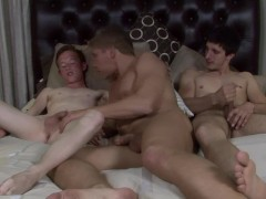 Guy gets his face sat on before taking 2 loads - Factory Video