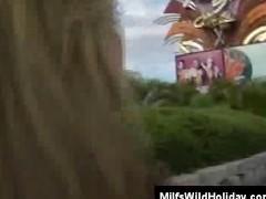On Vacation Busty Milf Christina Picks Up A Guy