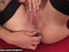 Tracy Pees After Anal Toying