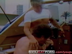 Jack Wrangler gets fucked on a boat in classic porn film SEA CADETS (1980)