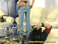 Blonde whore in rough bonking