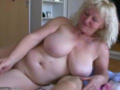 Big fat woman and old granny teacher fucking