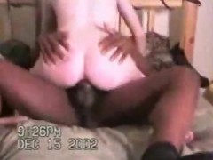hubby watches his horny wife fucks lucky stranger's huge BBC on christmas morning as he records it on camera!!