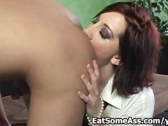 Red head hottie Cadence Caliber Sucks cock Eats ASS and gets Cum in Mouth