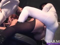HARMONY VISION Busty Keira Farrell is an Aerobics Anal Creampie Slut