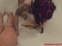 More filthy ATM and rimming, with anal creampie and cumswap, for nurse and patient