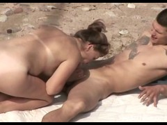 Wife gets fucked by her hubby on the beach