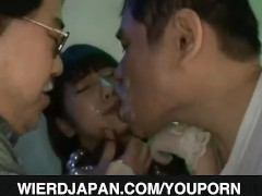 Pissy teen nailed in threesome