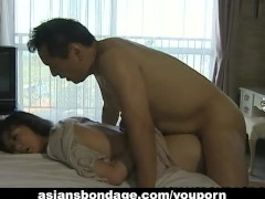 Busty Japanese gal gets bound and screwed hard