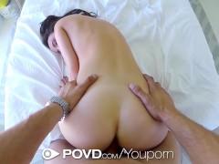 HD - POVD Dillion Harper gets a mouthful of cum in pov