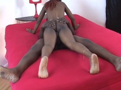 Natural ebony takes on a bbc - Hot Chocolate