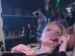 Hardcore Party Girls swallow Strippers Cum