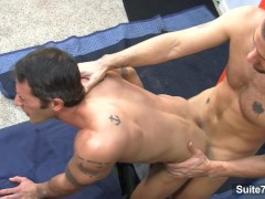Tattooed gay workers fucking well