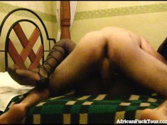 Busty African Girl Takes A Load On Her Face