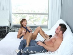 HD PureMature - Sexy latina Milf helps her man to relax