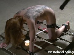 Mistresses canes and spanks every part of her tattooed slave