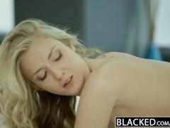 BLACKED Stunning Blonde Karla Kush Takes Massive Black Cock