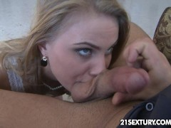 Kattie spends some great time with two cocks