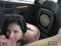 FakeTaxi Brunette exhibitionist loves...
