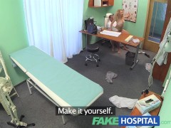 : FakeHospital Triple cumshot from doctor when his mistress visits hi...