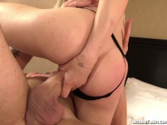 Super Tight Blond Fucks With Thong On!