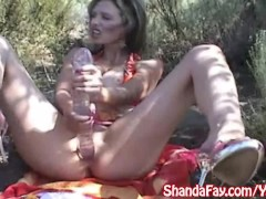 Kinky Canadian Milf Shanda Fay Plays With Huge Toy at The Lake!
