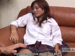 CFNM Japanese schoolgirl watches you masturbate Subtitles